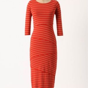 Anthropologie Bailey 44 Layered Stripe Midi Dress